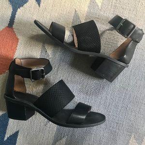 [Madewell] leather block heel summer sandals Sz.7